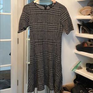 Theory plaid grey dress
